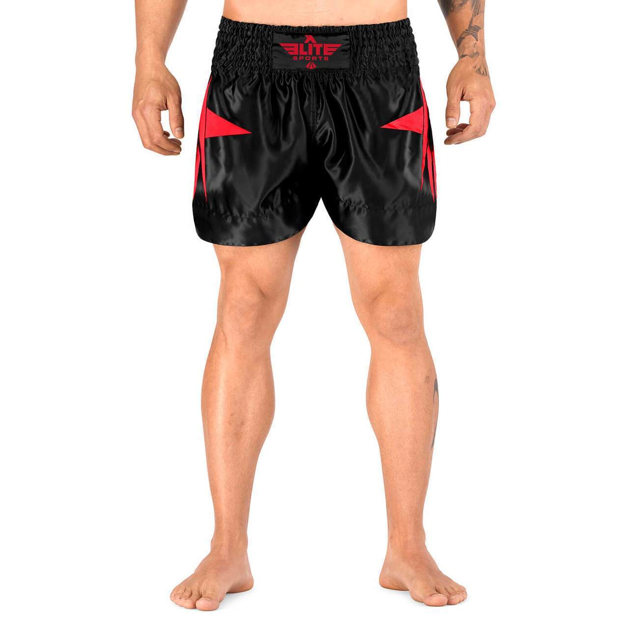Elite Sports Star Series Sublimation Red Muay Thai Shorts