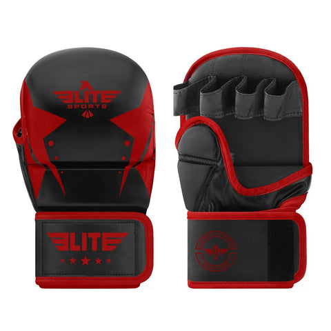 Elite Sports Star Series Black/Red MMA Grappling Gloves