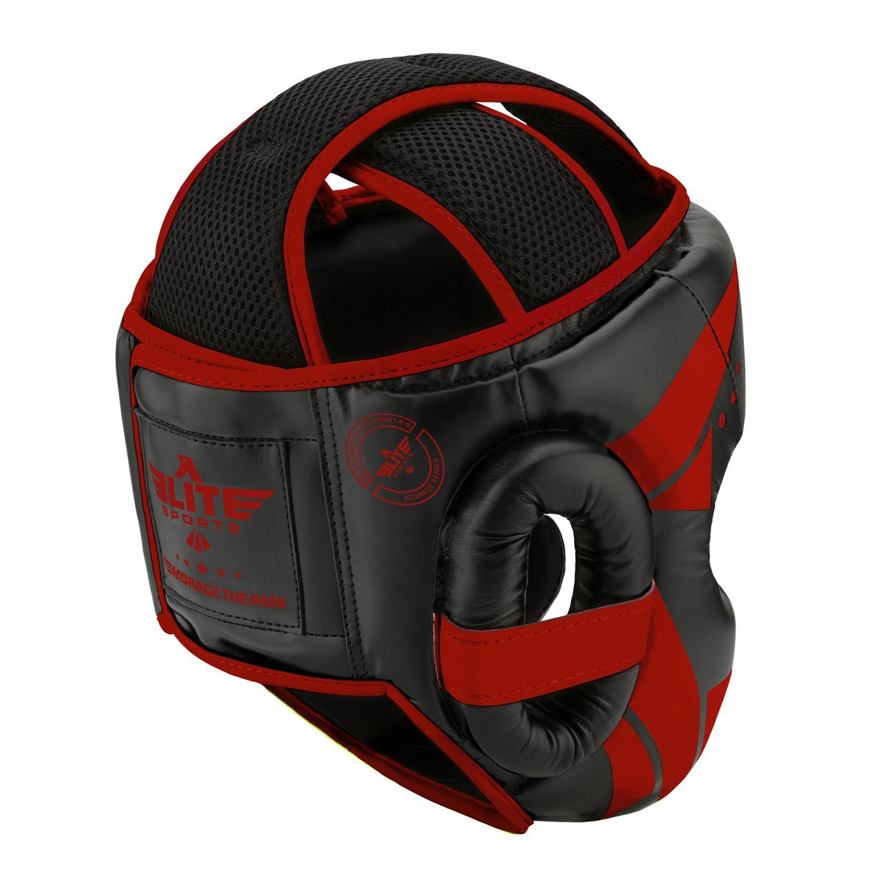 Load image into Gallery viewer, Elite Sports Star Series Sparring Black/Red Boxing Headgear