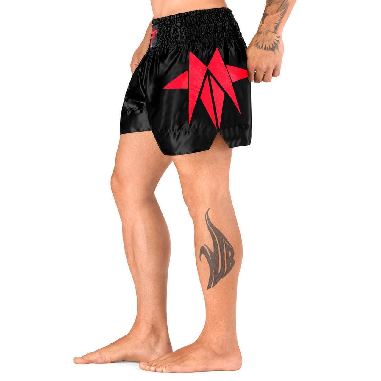 Load image into Gallery viewer, Elite Sports Star Series Sublimation Red Muay Thai Shorts