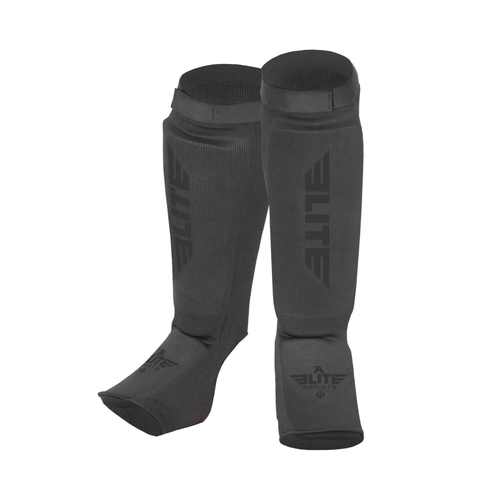 Elite Sports Standard Gray Karate Shin Guards