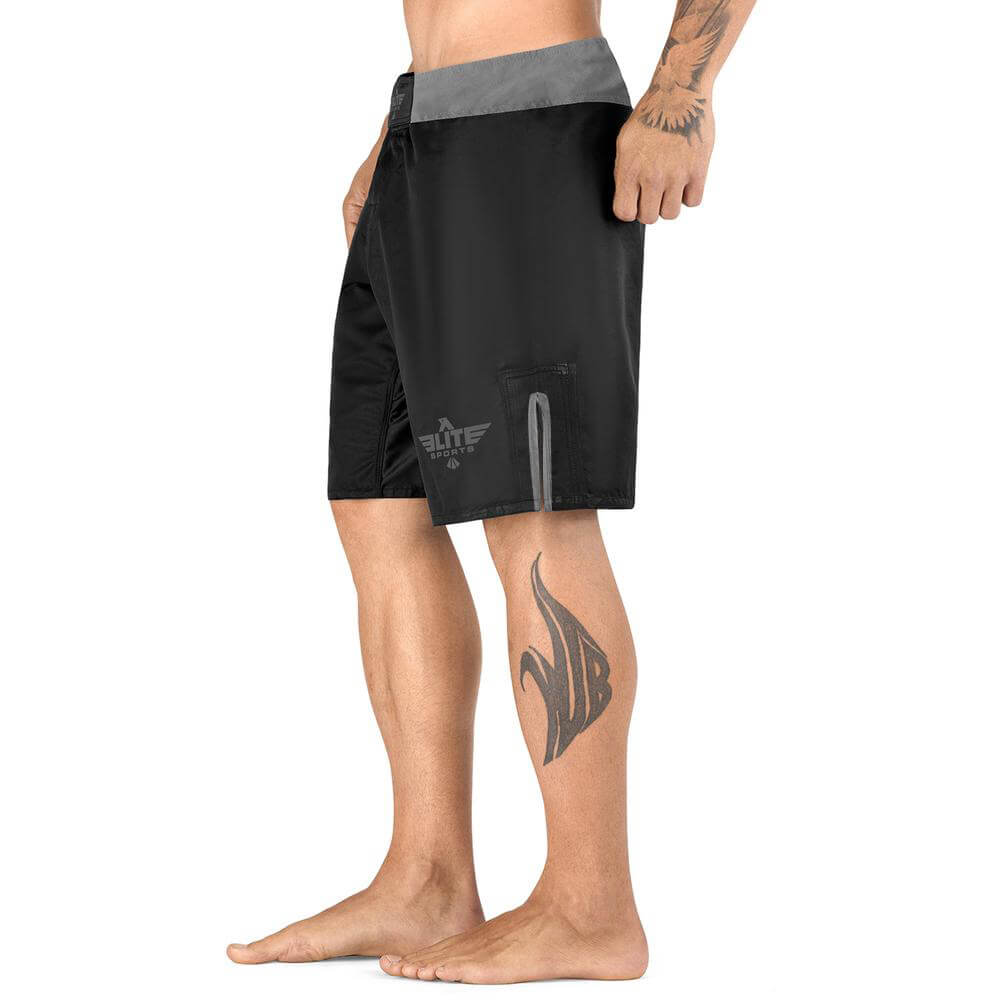 Load image into Gallery viewer, Elite Sports Black Jack Series Black/Gray Training Shorts