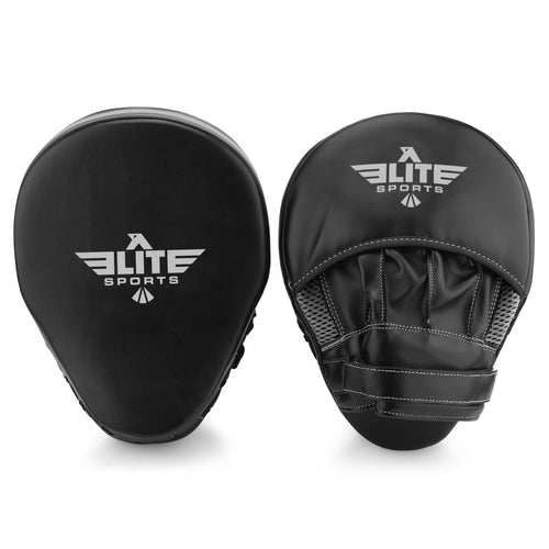 Elite Sports Essential Curved Black/Silver Boxing Punching Mitts