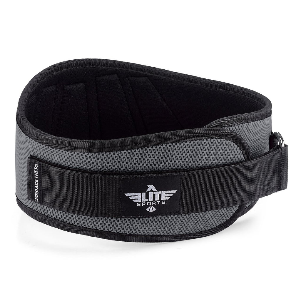 Elite Sports Gray Back Support Weight Lifting Belt