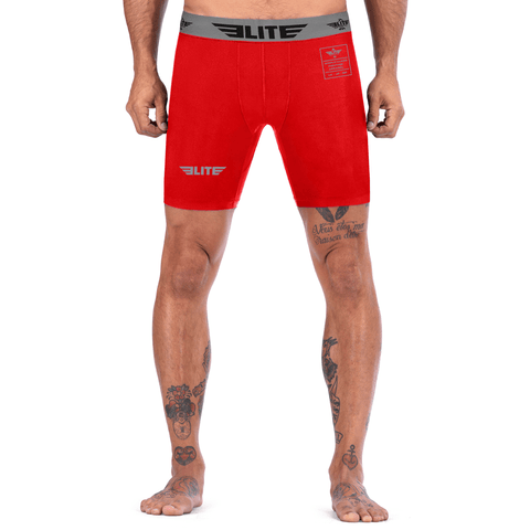 Elite Sports Red Compression Wrestling Shorts