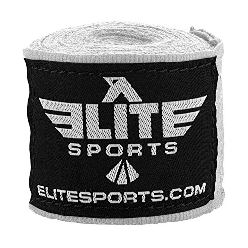 Elite Sports White Muay Thai Hand Wraps