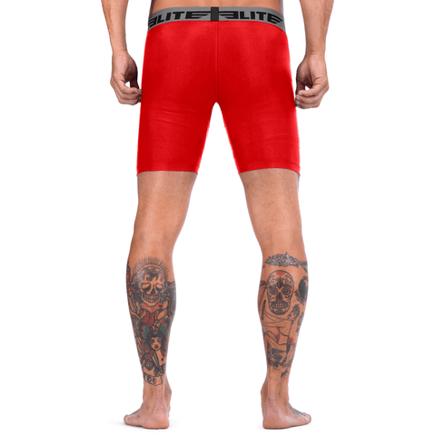 Elite Sports Red Compression Muay Thai Shorts