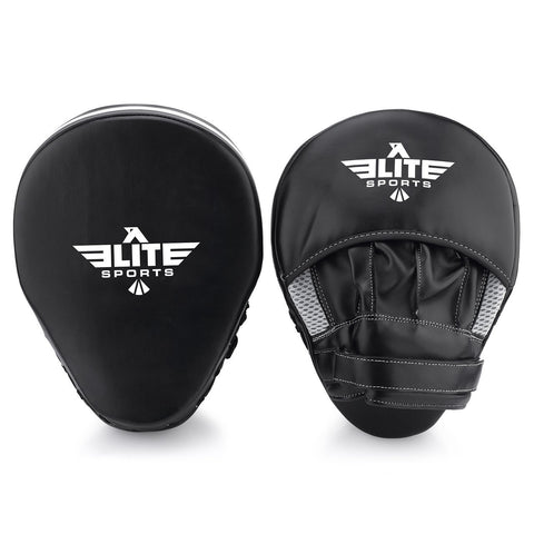 Elite Sports Essential Curved Black/White Boxing Punching Mitts