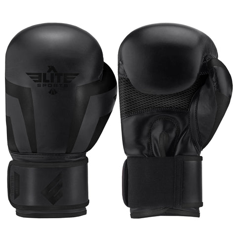 Elite Sports Standard Series Black/Black Adult Boxing Gloves