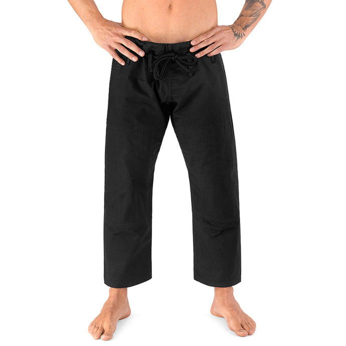 Elite Sports Black Adult Brazilian Jiu Jitsu BJJ Pant