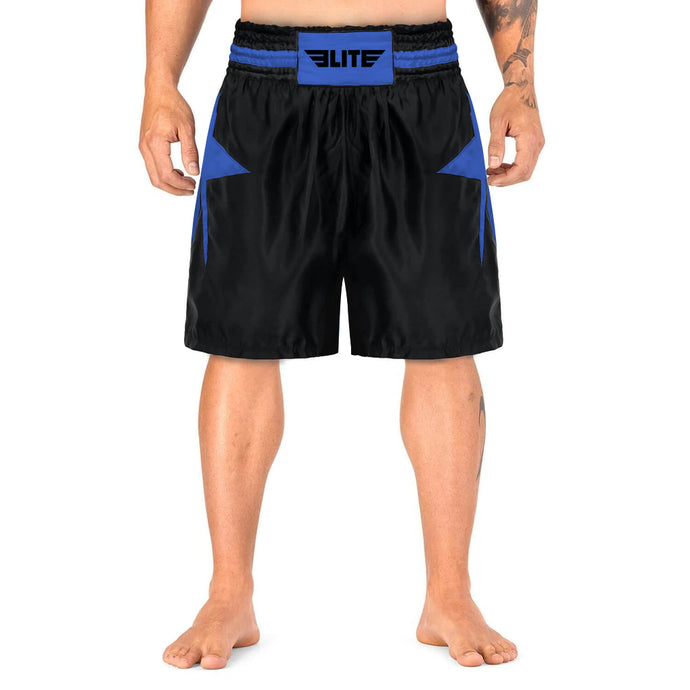 Elite Sports Star Series Sublimation Black/Blue Boxing Shorts