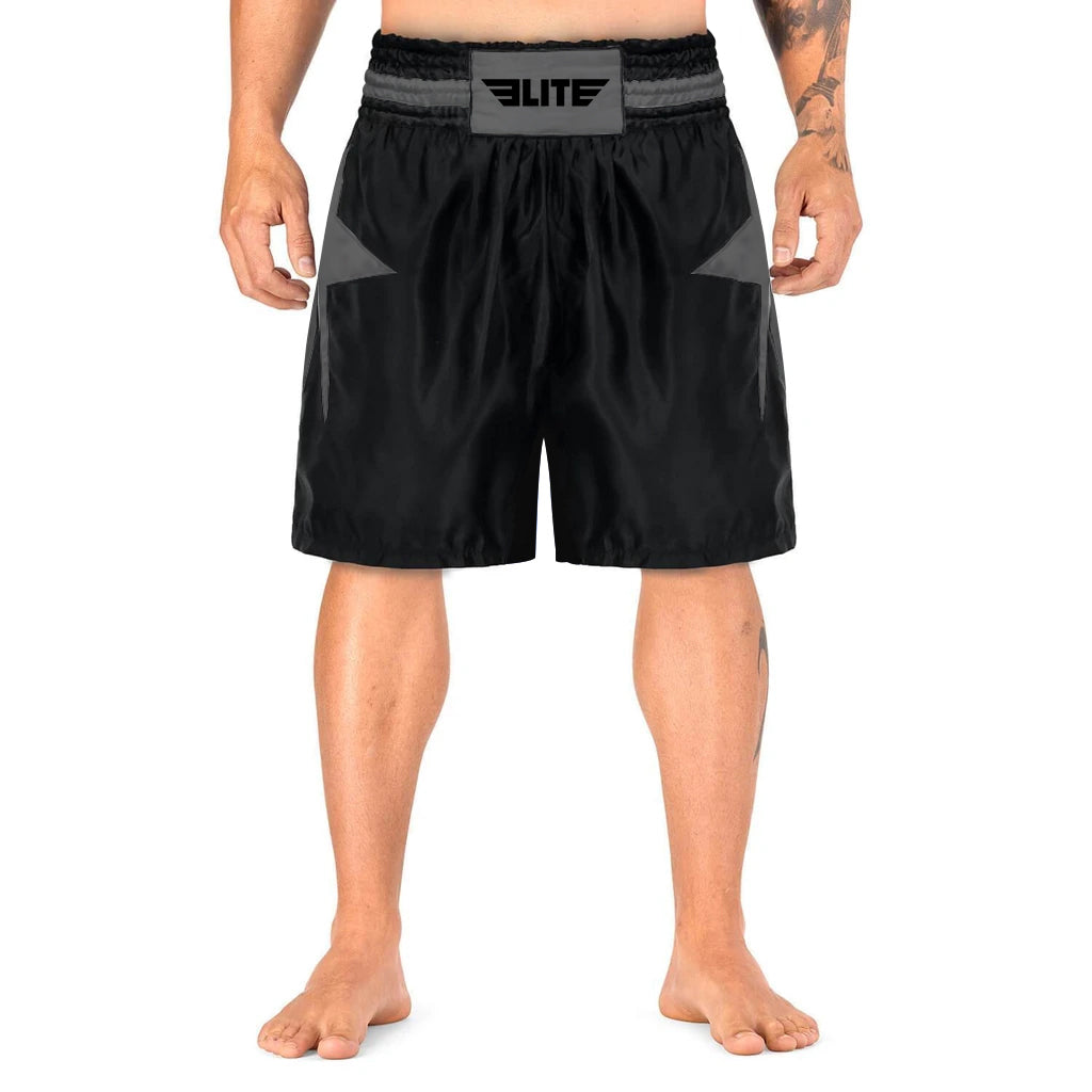 Elite Sports Star Series Sublimation Black/Gray Boxing Shorts