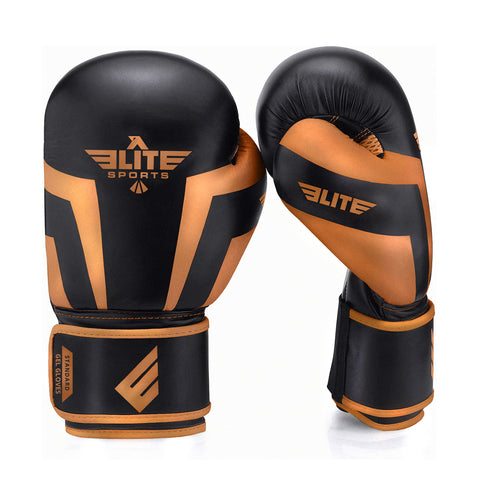 Elite Sports Standard Series Black/Copper Adult Boxing Gloves