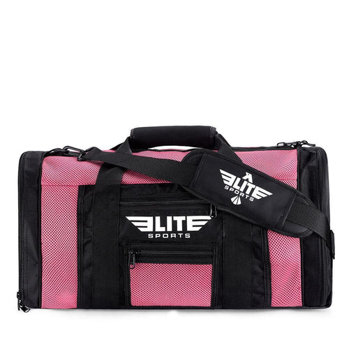 Elite Sports Mesh Pink Medium Karate Gear Gym Bag