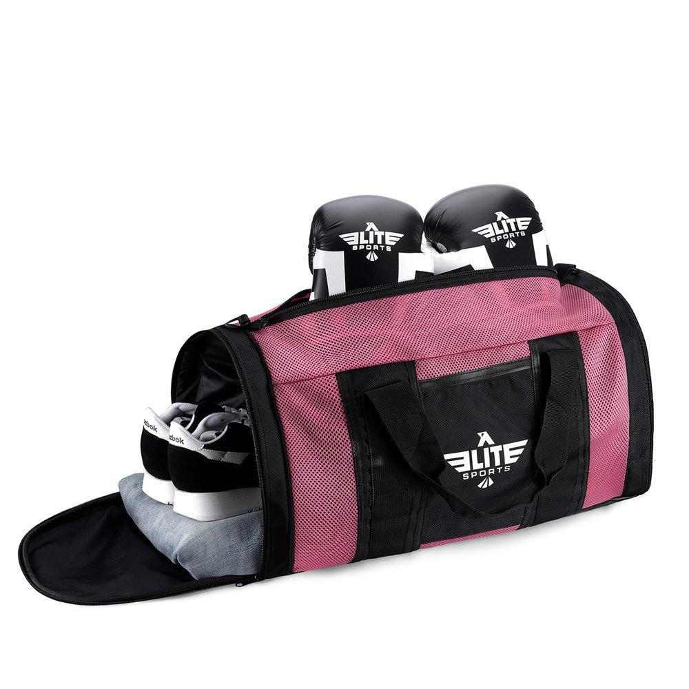 Load image into Gallery viewer, Elite Sports Mesh Pink Medium Wrestling Gear Gym Bag