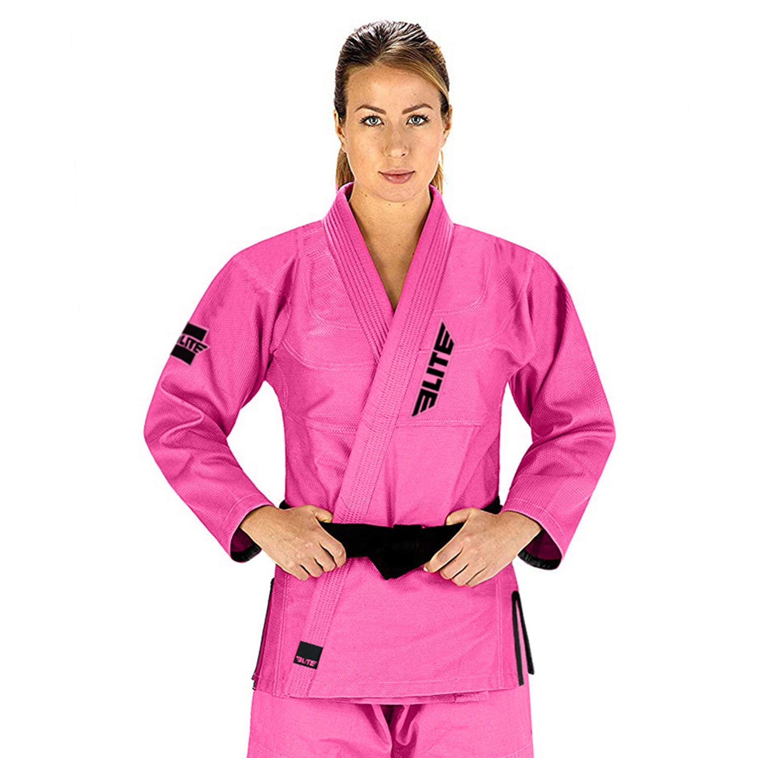 Elite Sports Ultra Light Preshrunk Pink Adult Brazilian Jiu Jitsu BJJ Gi With Free White Belt