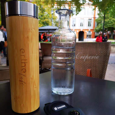 Bamboo Water Bottle with Water Jar