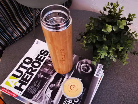 Erthe Life Bamboo Reusable Water Bottle perfect for brewing your favourite tea