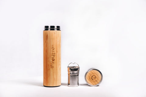 Erthe Life Bamboo Insulated Water Bottle with Tea Infuser