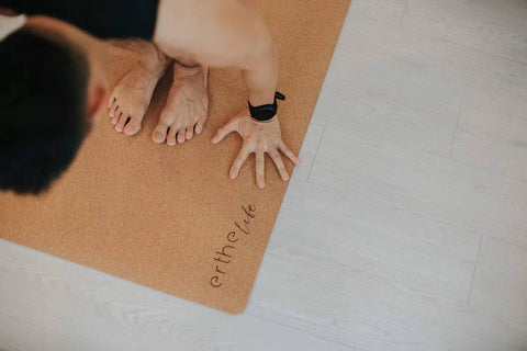 Cork Yoga Mat provides great grip and comfort over traditional yoga mats