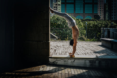Performing Handstand with Handstand blocks in Hong Kong