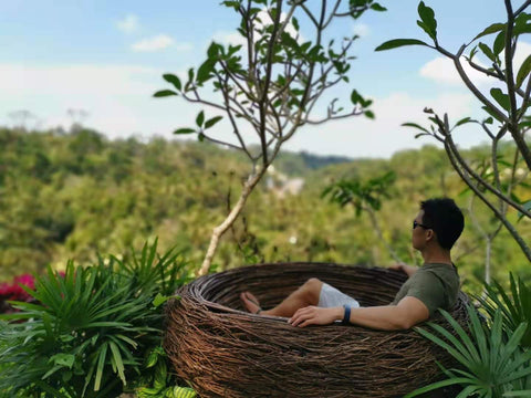 Meditating in the hills of Bali