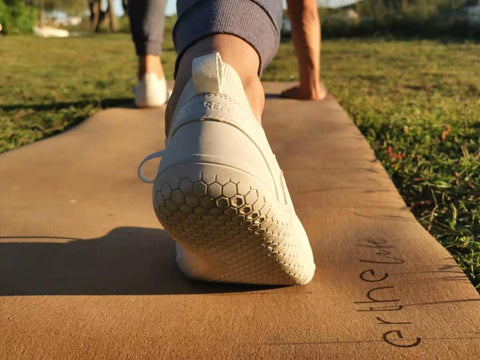 Sustainable Vivobarefoot shoes with Erthe Life Eco-friendly Cork Yoga Mat