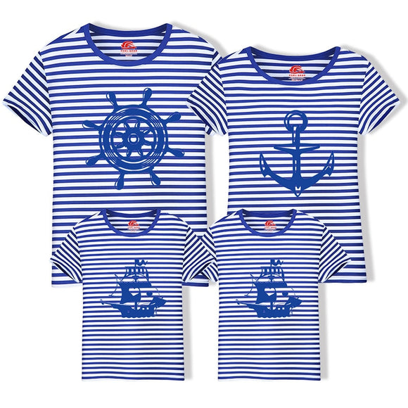 Family Matching Cotton Outfits T-shirt New Short Sleeve