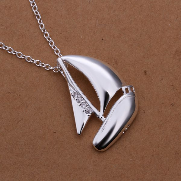 Good Luck Sea Journey Sail Boat Necklace