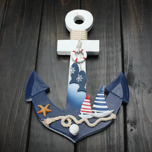 Wooden Nautical Wall Hanging Anchor