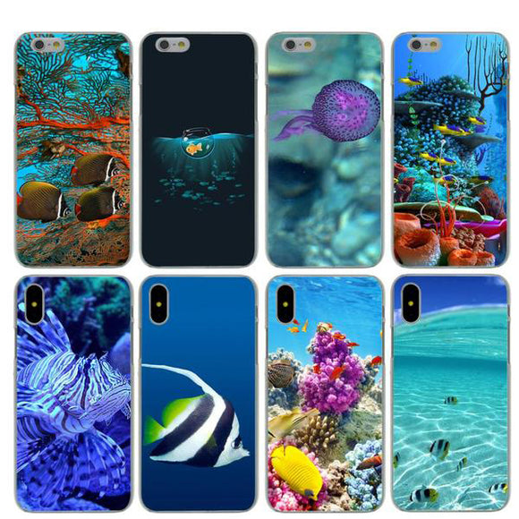 Marine Life Ocean Hard Phone Case for Apple iPhones