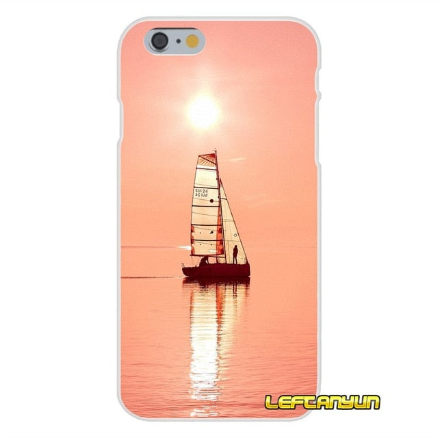 Sailboats and sunsets  silicon iphone case