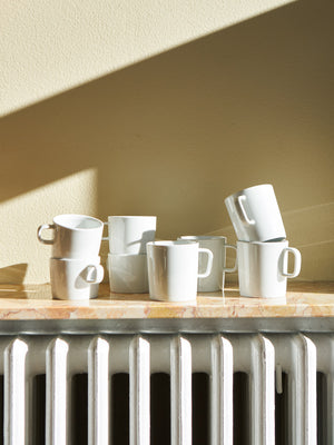 Alessi White Porcelain Cups