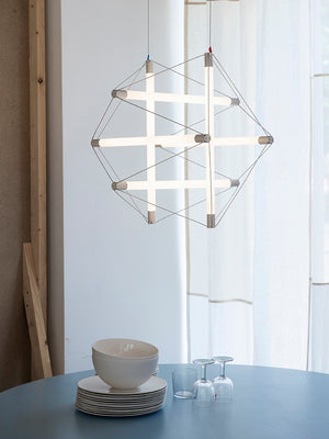 Ingo Maurer Light Structure lamp by Peter Hamburger