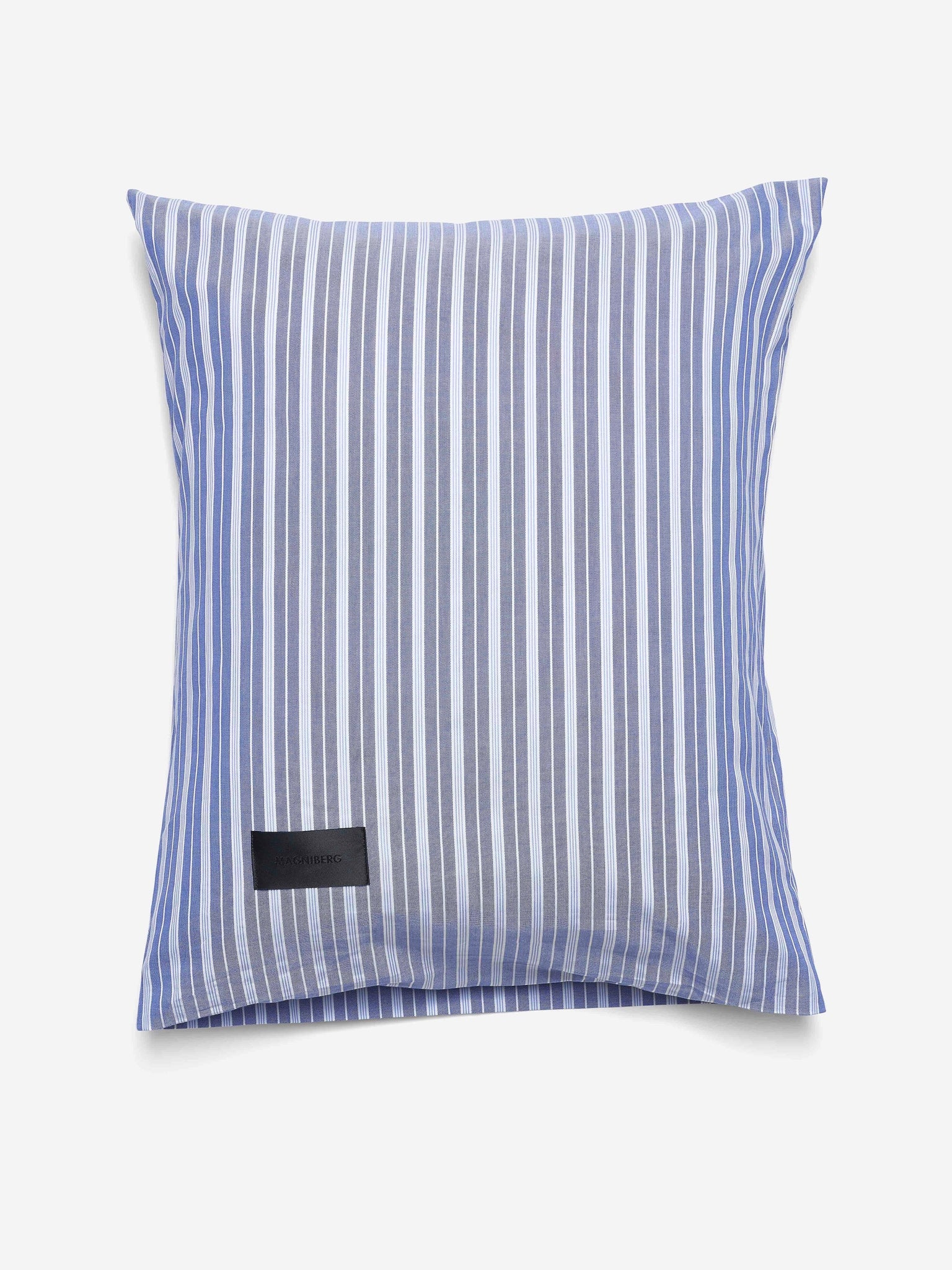 Magniberg Wall Street Oxford Pillow Case Stripe Medium Blue