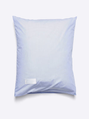 Magniberg Wall Street Poplin Pillow Case Light Blue Mini Stripes