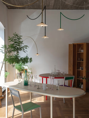 Valerie Objects Oval Wooden Table by Muller van Severen