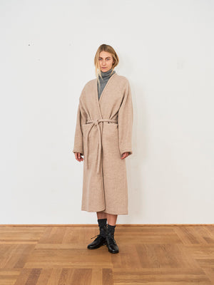 KASSL Editions V Wrap Below Wool Coat