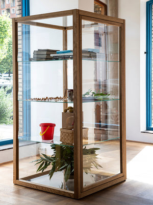 Wooden Glass Cabinet by studio x