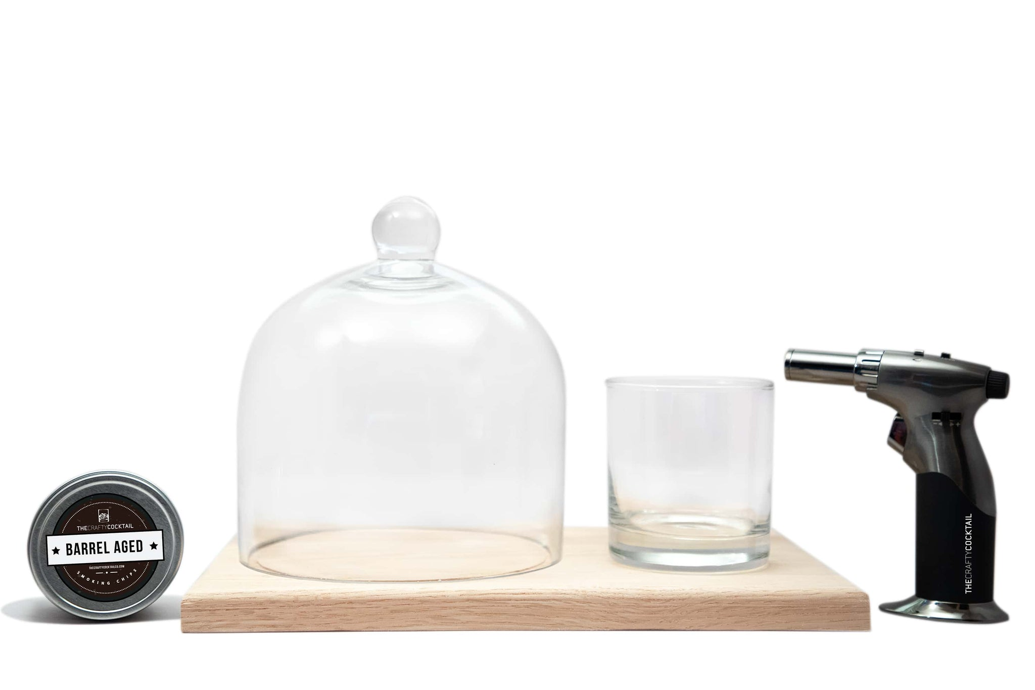 Dome Cocktail Smoking Kit - Large Wooden Base