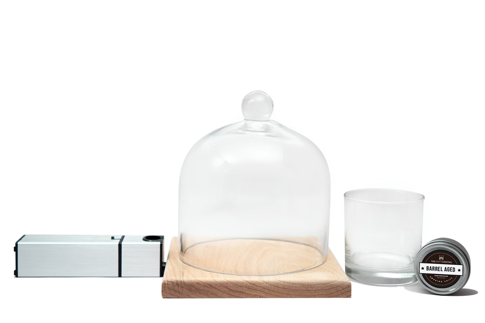 Household Cocktail Smoking Infuser Kit - Medium Wooden Base