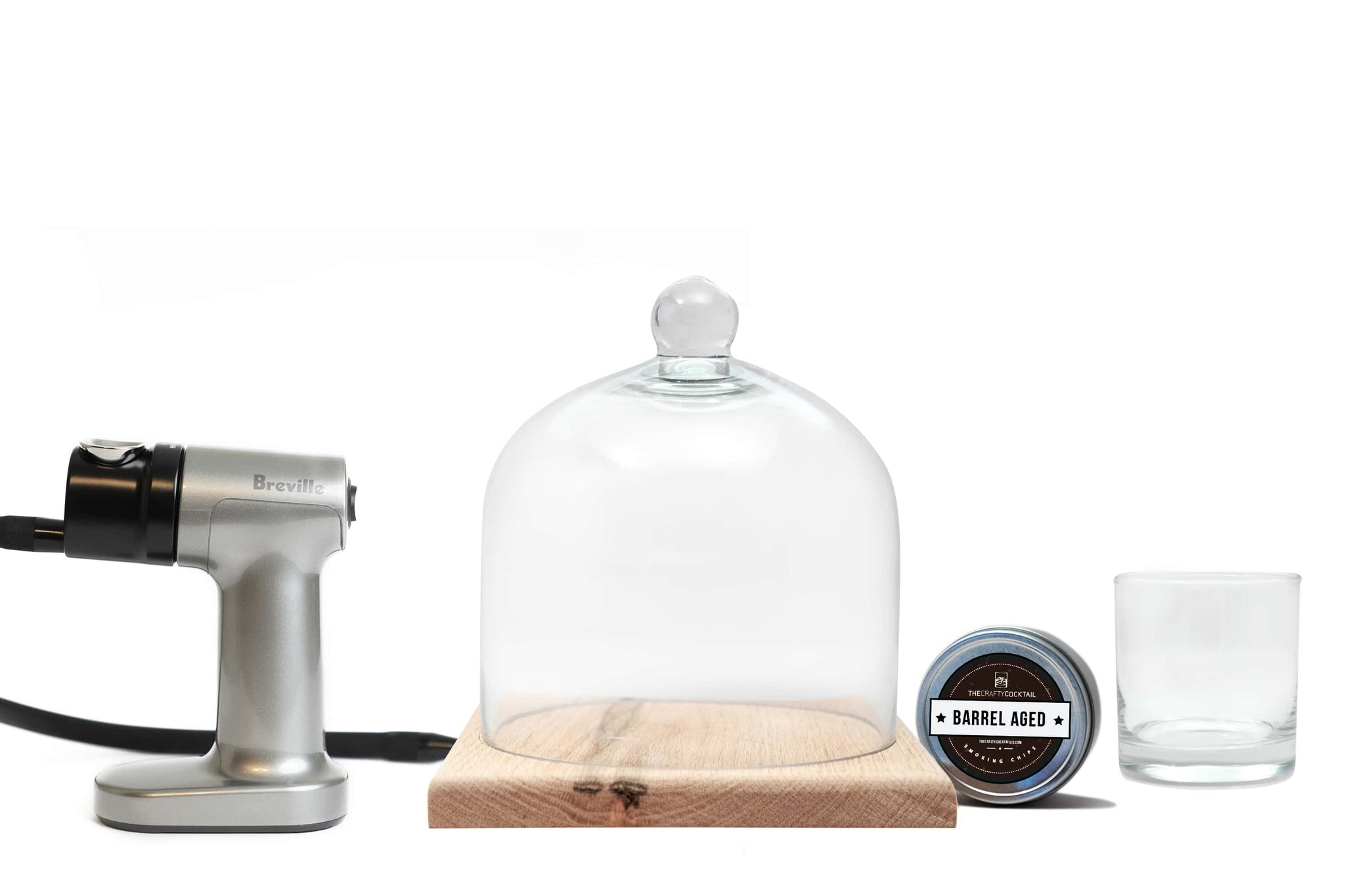 Professional Cocktail Smoking Infuser Kit - Medium Wooden Base