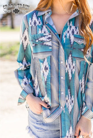 Crazy Train NFR Worthy Button Up
