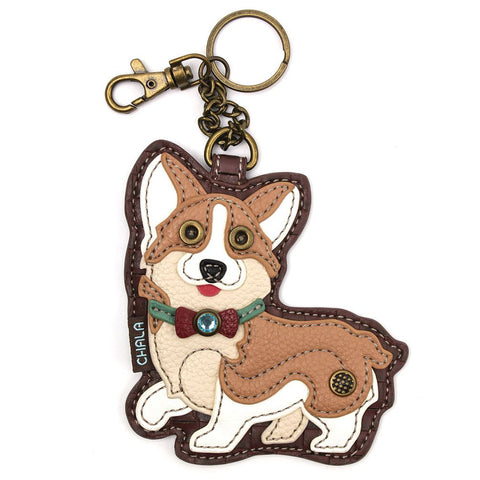 Chala Key Fob/Coin Purse Corgi
