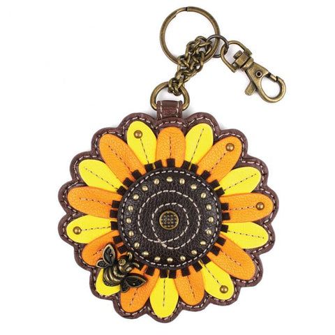 Chala Key Fob/Coin Purse Sunflower