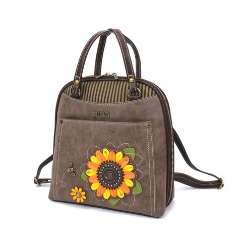 Chala Sunflower - Convertible Backpack Purse