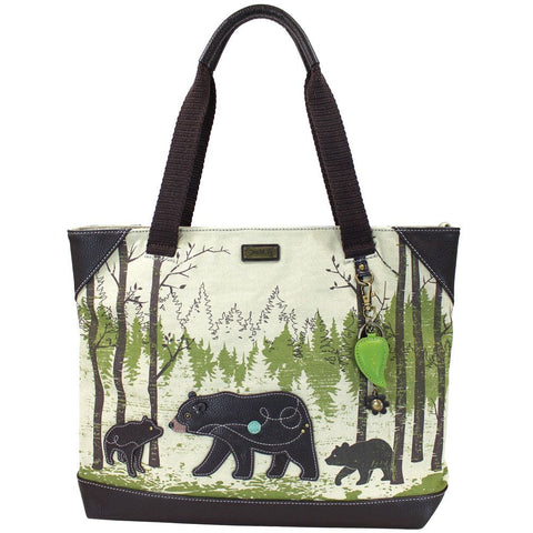 Bear Safari Canvas Tote