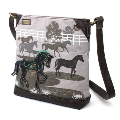 Chala Safari Horse Canvas Crossbody