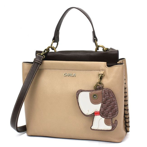 CHALA CHARMING TAUPE SATCHEL - DOG