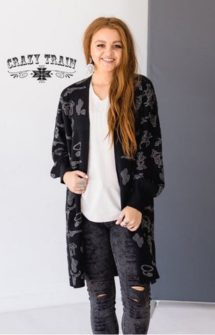 Crazy Train Cowboy Cadillac Cardigan